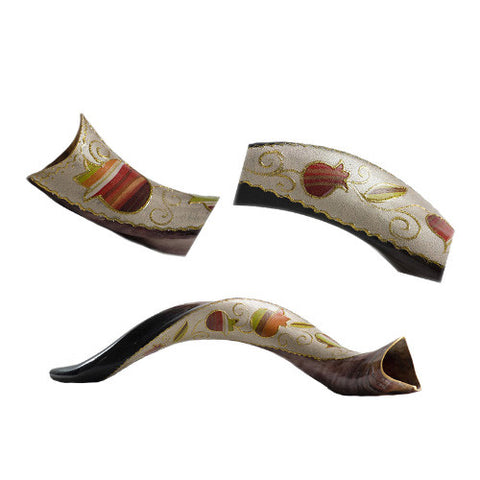 Painted Kudu (Yemenite) Shofar Pomegranite