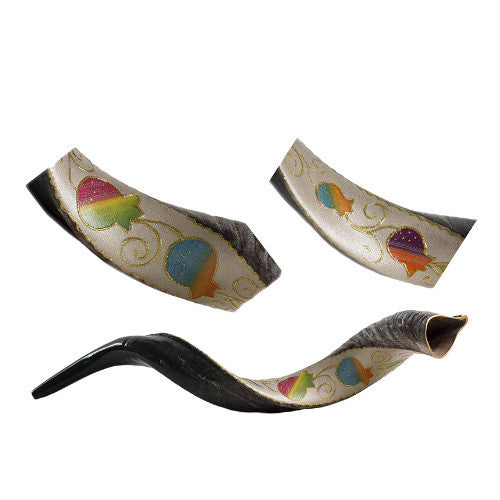 Painted Kudu (Yemenite) Shofar Vine