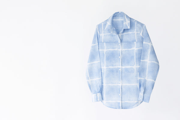 Linen-cotton square shirt