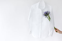 Linen-cotton white shirt