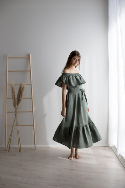 Sea holly maxi dress