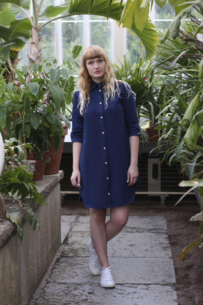 Cotton-Tencel shirt dress