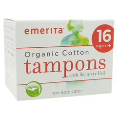 Organic Cotton Non-Applicator Tampons Super Plus