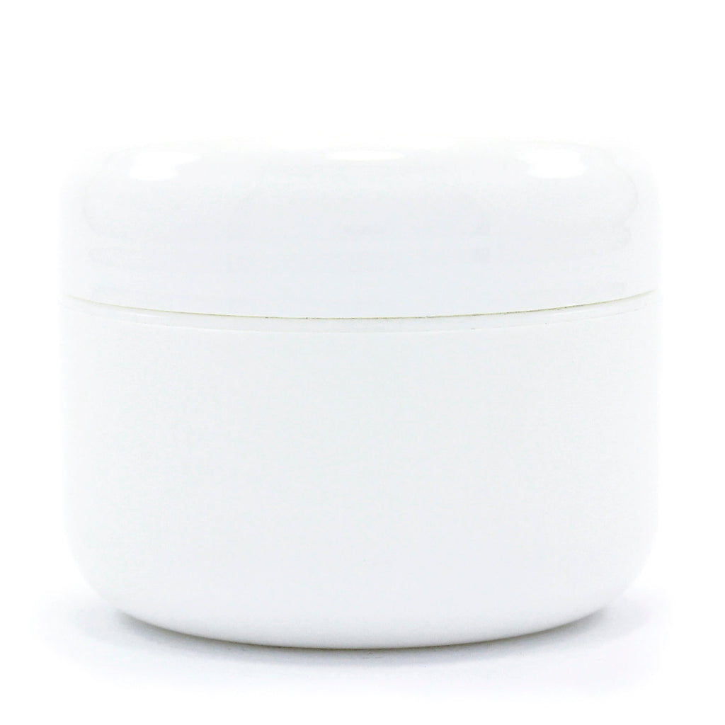 Double Wall White Plastic Jar w/Dome Lid