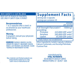 Pancreatic Enzymes 500mg