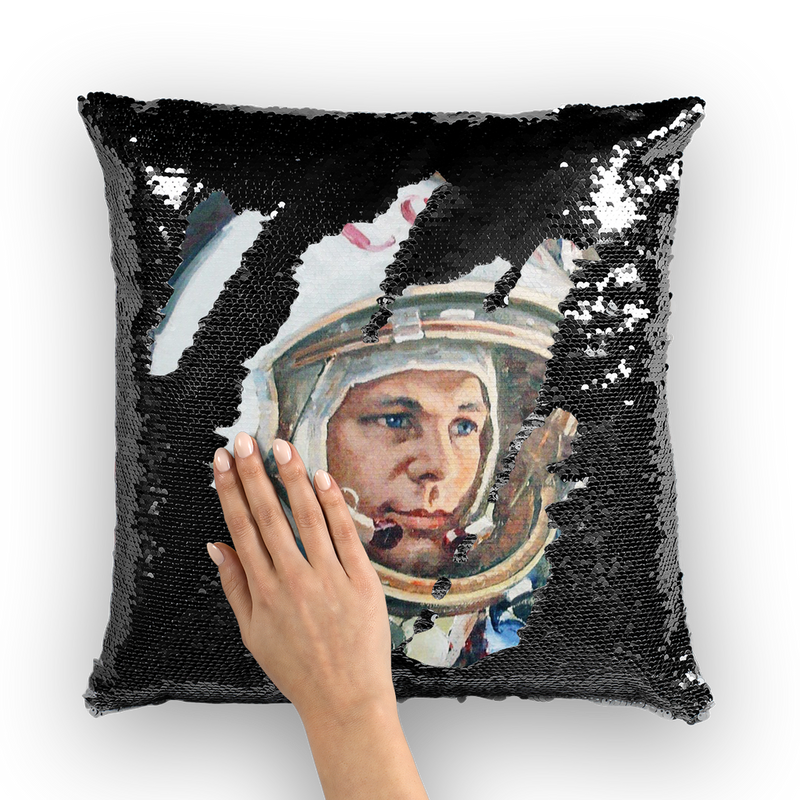 GAGARIN Sequin Cushion Cover - Soviet Visuals