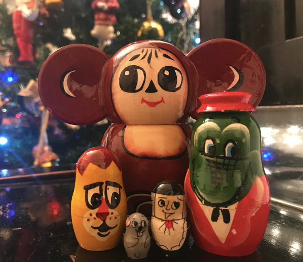 Cheburashka & Friends Hand-Painted Nesting Doll