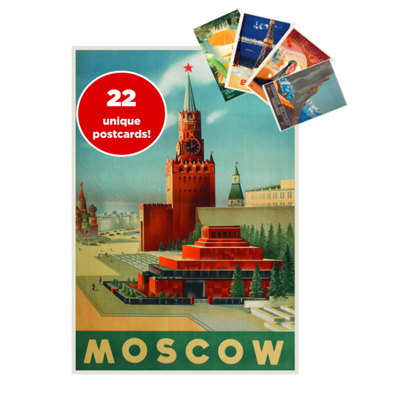 Welcome to USSR! 22-Piece Travel Postcard Set - Soviet Visuals