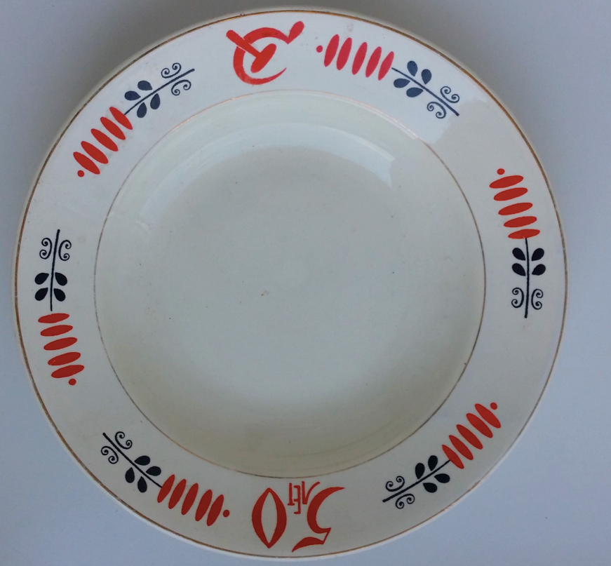 50th Anniversary of October Revolution Porcelain Plate - Soviet Visuals