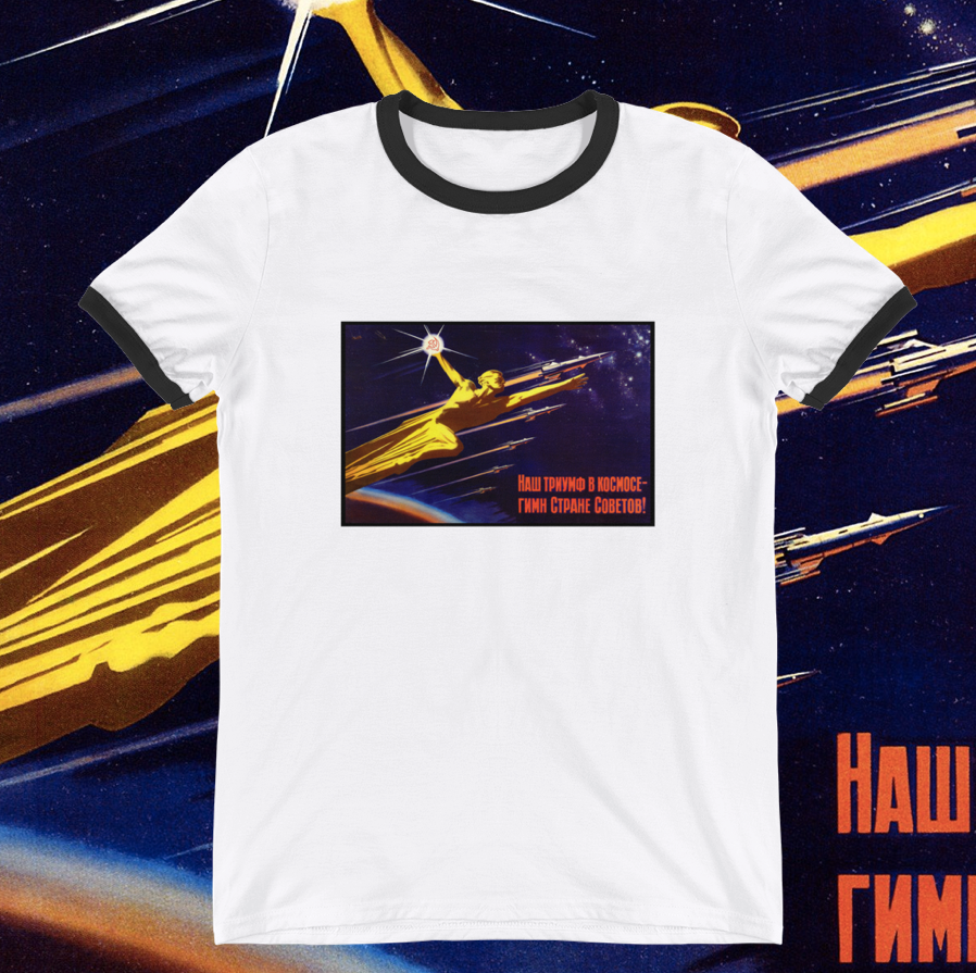 SPACE TRIUMPH Ringer T-Shirt - Soviet Visuals