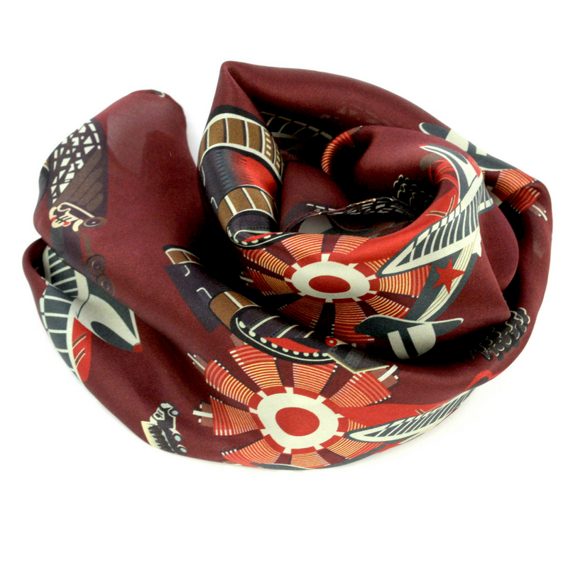 Mechanization Silk Scarf