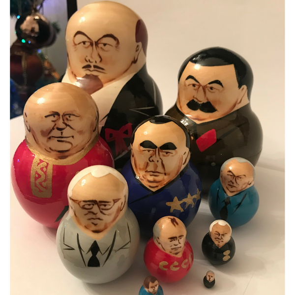 10-Piece Soviet Leaders Nesting Doll