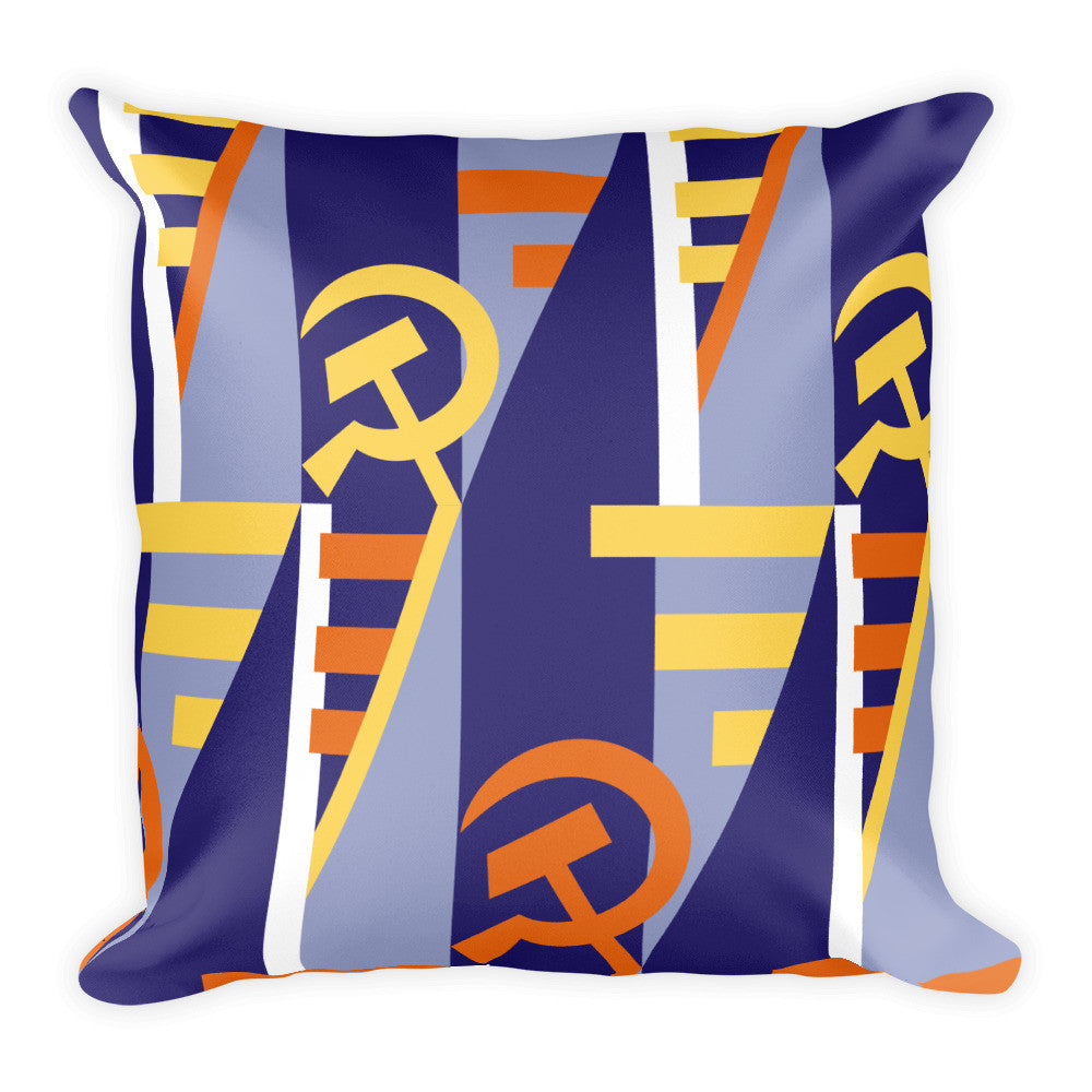 Proletariat Plush Pillow (Wide Print) - Soviet Visuals