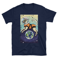 Laika CCCP Space Dog Art Shirt - Soviet Visuals