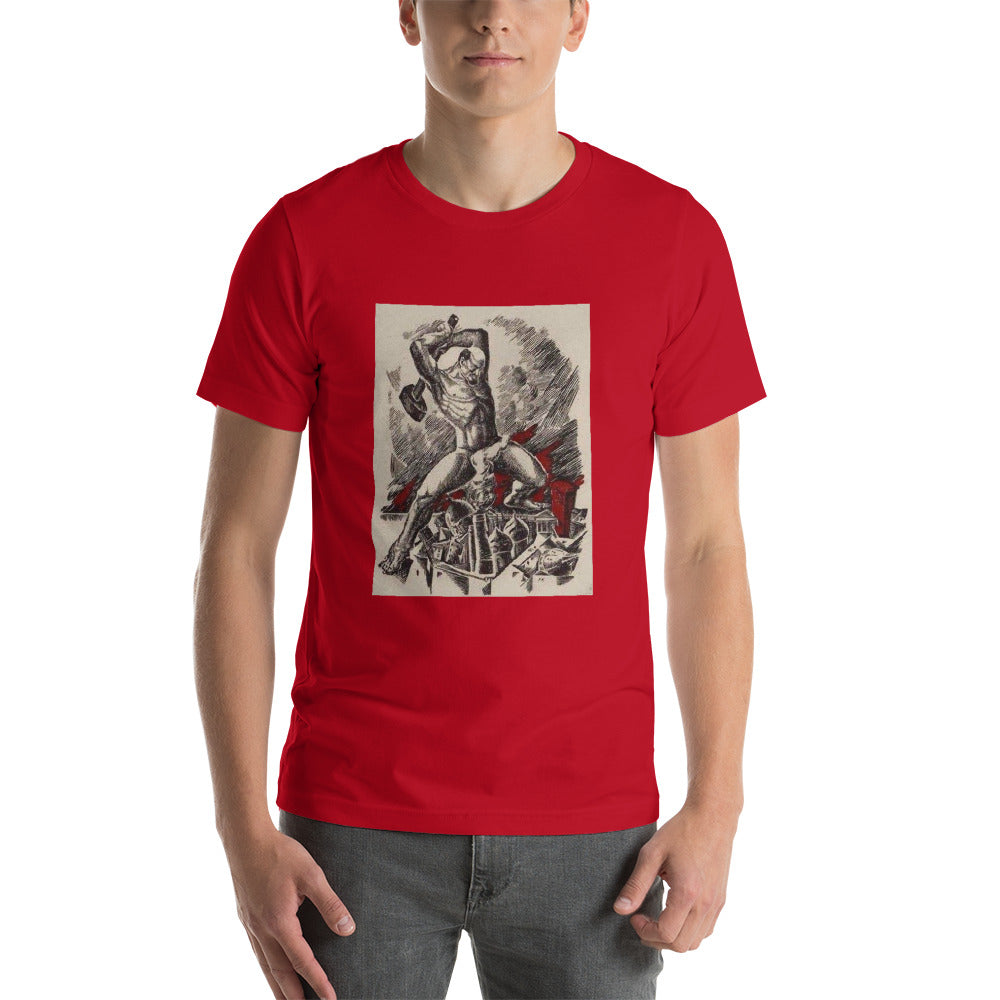 ETERNAL FLAME 1924 Unisex T-Shirt - Soviet Visuals