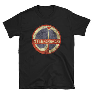 INTERKOSMOS Ringspun Cotton T-Shirt - Soviet Visuals