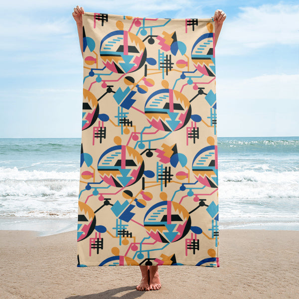 Electrification USSR Beach Towel