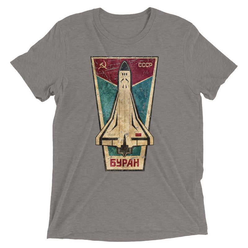 BURAN CCCP Triblend Shirt - Soviet Visuals