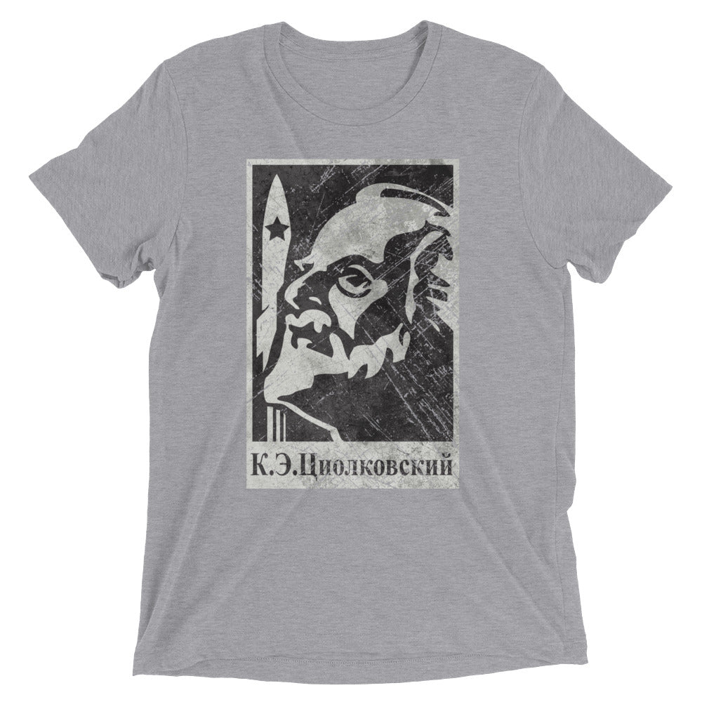 TSIOLKOVSKY Tri-Blend Shirt - Soviet Visuals