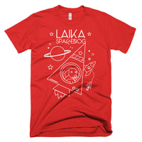 Laika Space Dog American Apparel T-Shirt (Red) - Soviet Visuals