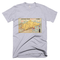 RUSSIAN BEAR Vintage Map Shirt (American Apparel) - Soviet Visuals