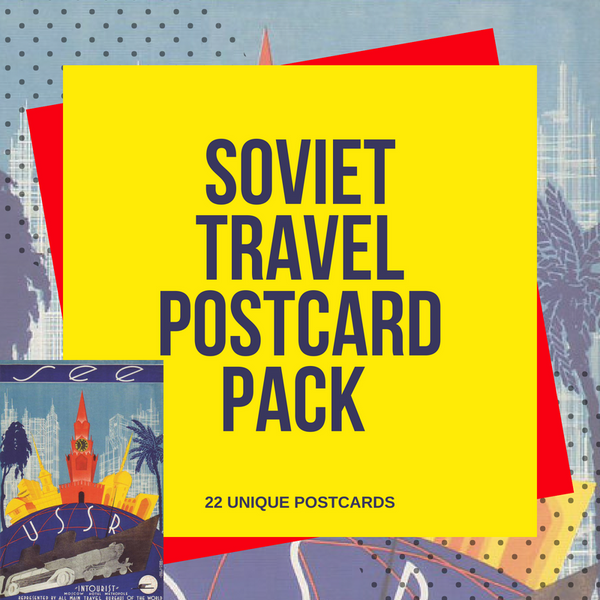 Welcome to USSR! 22-Piece Travel Postcard Set