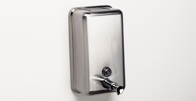 Sonia 118113 Wallmount Commercial Soap Dispenser Stainless Steel - NYDIRECT