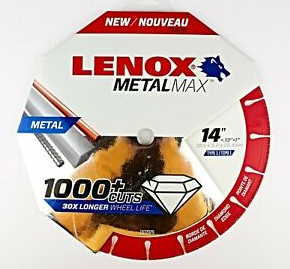 "Lenox 1972929 14"" Diamond Cutting Wheel - NYDIRECT"