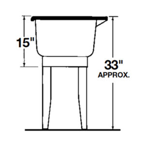 "EL Mustee 14CP 23"" UTILITUB® Co-Polypure™ Laundry Tub - Combo Kit - NYDIRECT"