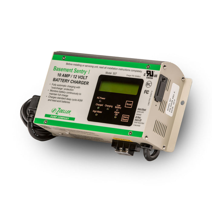Zoeller 153000 Battery Charger for a 508 Series Aquanot Back-up Sump Pump - NYDIRECT