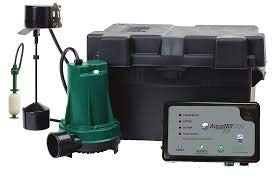 Zoeller 508-0014 Aquanot® Fit 12-volt DC Battery Back-up Sump Pump System with Built-in Wi-Fi for Z Control Connectivity - NYDIRECT