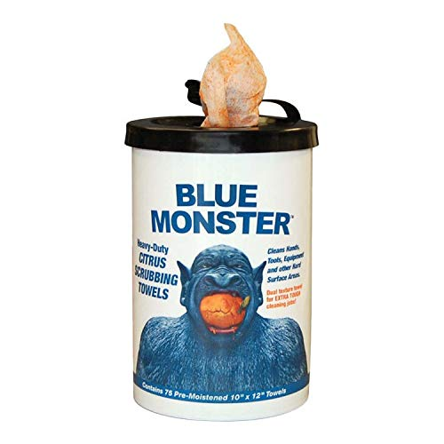 Blue Monster 77095 Heavy-Duty Citrus Scrubbing Towel Hand Wipes - NYDIRECT