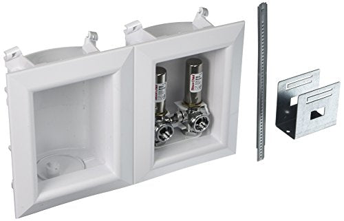 Sioux Chief 696-2313XF Washing Machine Outlet Ox Box- With 1/2 Inch Pex Crimp Connections-With Hammer Arrestors - NYDIRECT