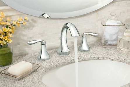Moen T6420-9000 Eva Widespread Bathroom Faucet with Valve - NYDIRECT
