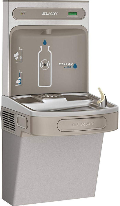 Elkay EZS8WSLK EZH2O Bottle Filling Station with Single ADA Cooler, Non-Filtered 8 GPH Light Gray - NYDIRECT