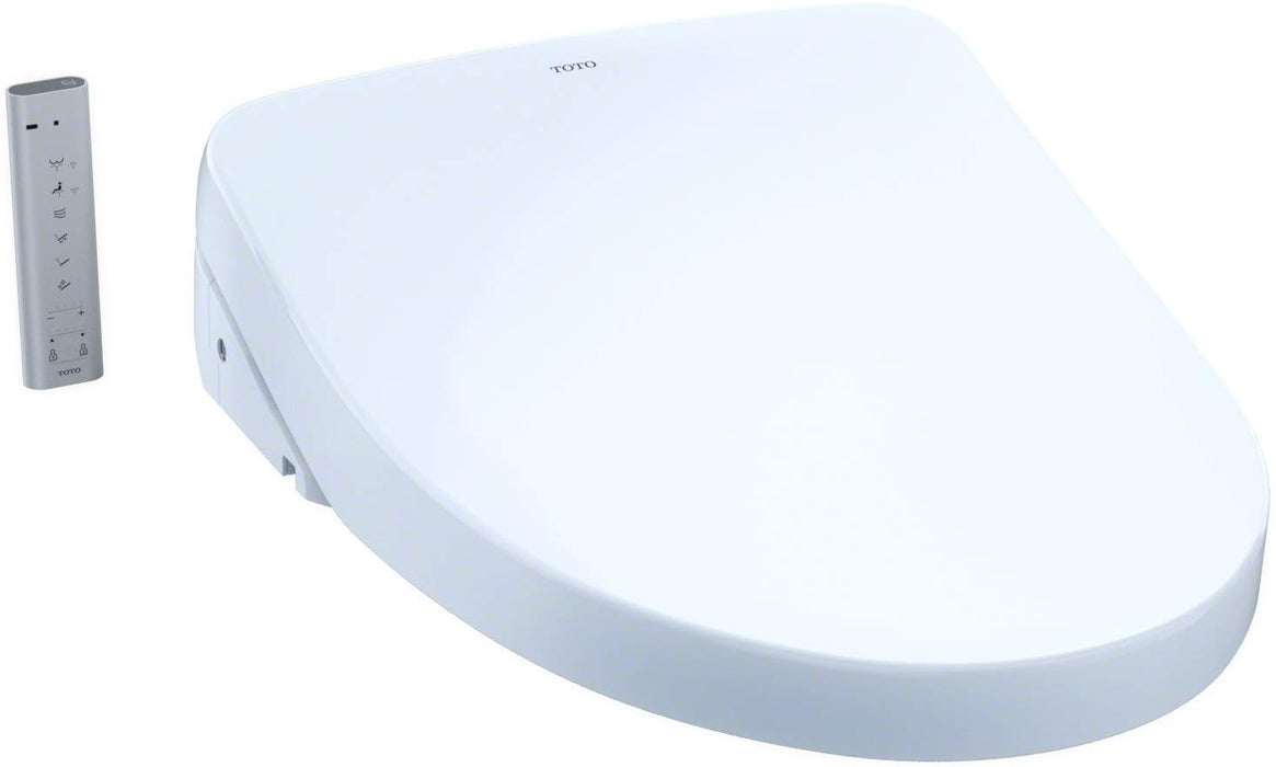 TOTO S550E SW3056 WASHLET® Elongated Bidet Toilet Seat with EWATER+ and Auto Open and Close Contemporary Lid - NYDIRECT