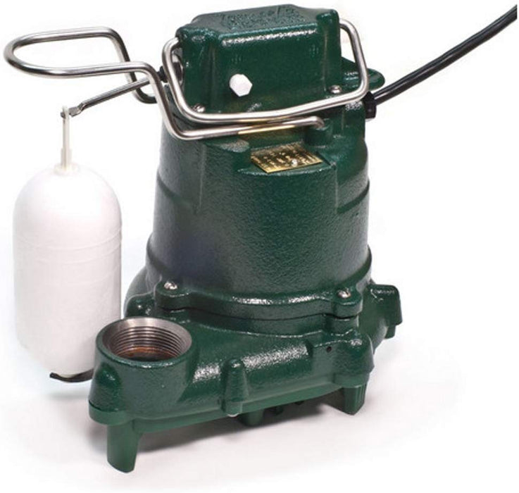 Zoeller 53-0016 1/3HP Model M53 Mighty-Mate Automatic Cast Iron Single Phase Submersible Sump/Effluent Pump w/ 25' Cord - NYDIRECT