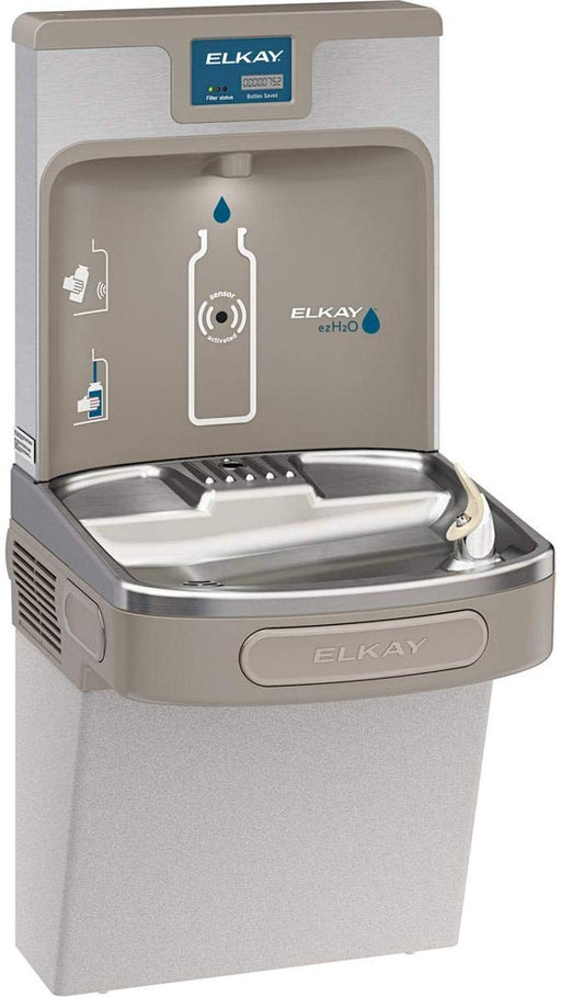 Elkay LZS8WSLP Enhanced EZH2O Bottle Filling Station & Single ADA Cooler, Filtered 8 GPH Light Gray - NYDIRECT