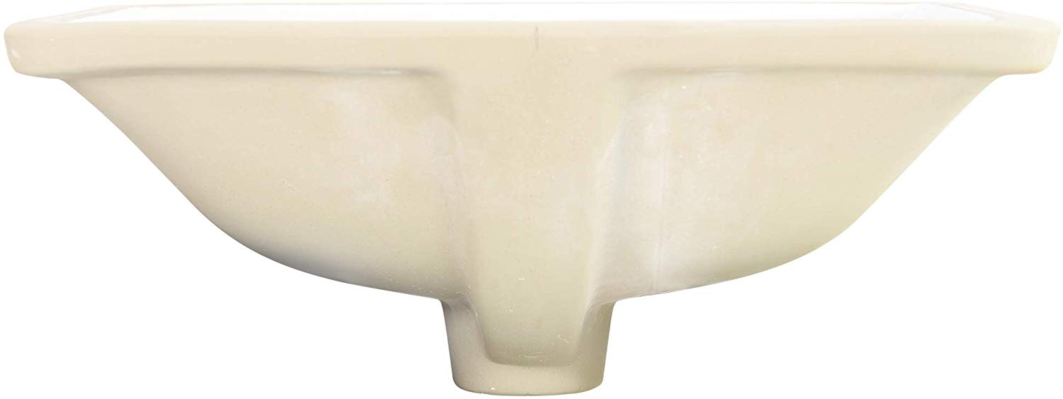 Nantucket Sinks UM-16x11-W 16-Inch by 11-Inch Rectangle Ceramic Undermount Vanity, White - NYDIRECT