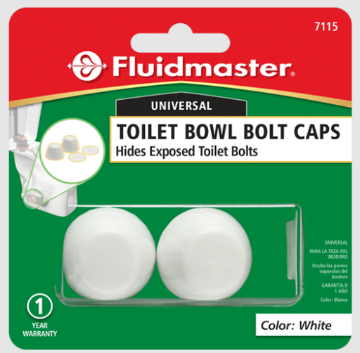 Fluidmaster 7115 Toilet Bowl Bolt Caps - NYDIRECT