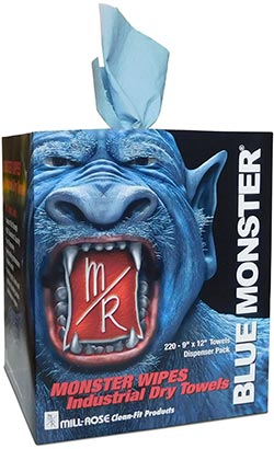 Mill-Rose Blue Monster® MONSTER WIPES Industrial Towels - NYDIRECT