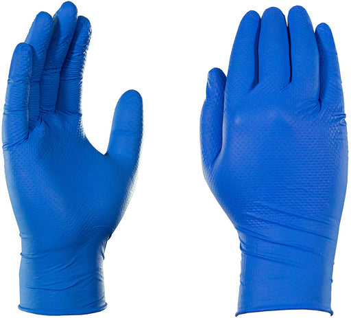 AMMEX® Gloveworks® Heavy Duty Royal Blue Nitrile Gloves - NYDIRECT