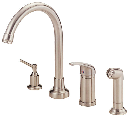 Danze Melrose Single Handle High-Rise Kitchen Faucet with Spray and Soap Dispenser - NYDIRECT