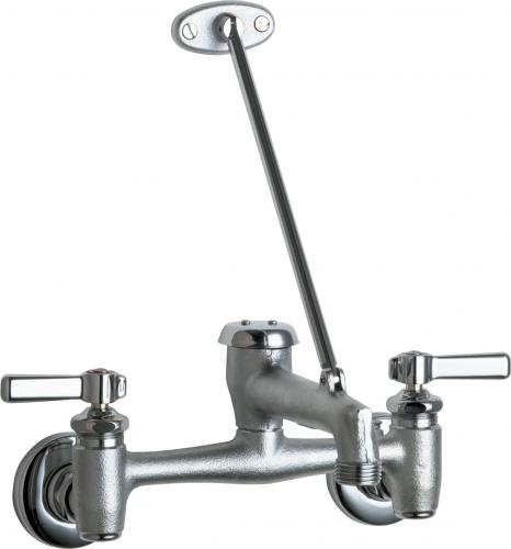 Chicago Faucets 897-RCF Wall Mount Service Sink Faucet - NYDIRECT