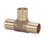 Viega PureFlow Zero Lead Brass Crimp Reducer Tee - NYDIRECT