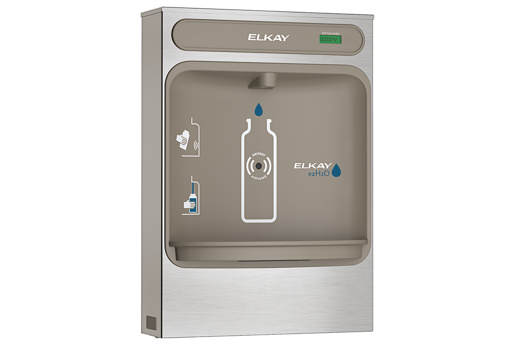 Elkay EZWSSM EZH2O Bottle Filling Station Surface Mount, Non-Filtered Non-Refrigerated Stainless - NYDIRECT