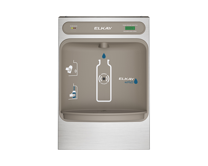 Elkay LZWSSM EZH2O Bottle Filling Station Surface Mount, Filtered Non-Refrigerated Stainless - NYDIRECT