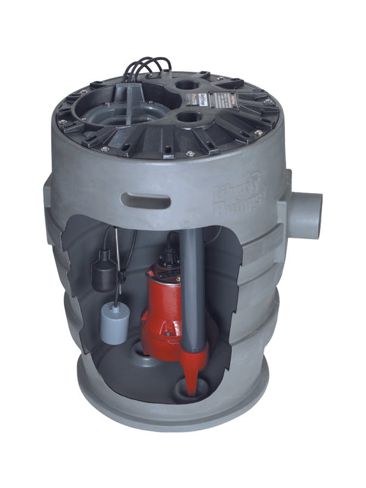 "Liberty Pumps Pro370-Series 21"" x 30"" Simplex Sewage System - NYDIRECT"