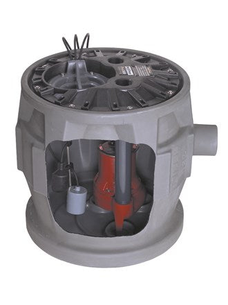 "Liberty Pumps Pro380-Series 24"" x 24"" Simplex Sewage System - NYDIRECT"