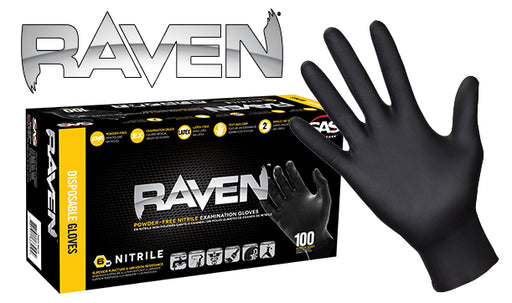 Raven® Nitrile Disposable Gloves 6 mil - NYDIRECT